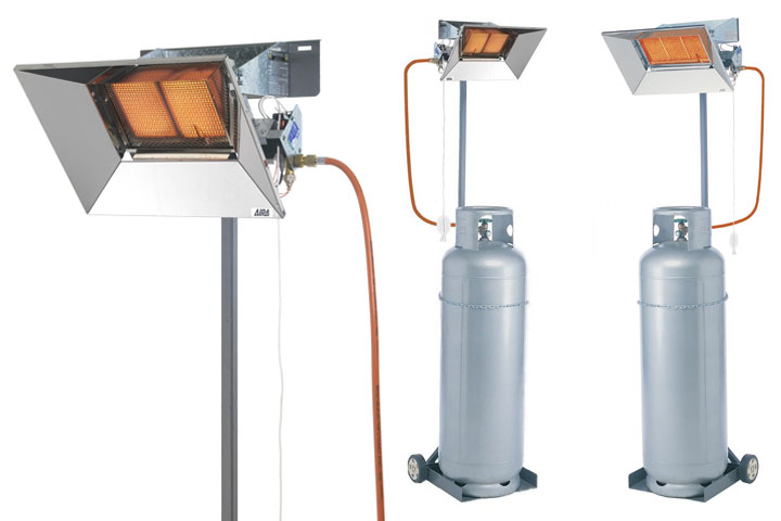 Superray flexiray infrared gas heaters