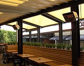 Weatherproof Heaters Alfresco Restaurant BILD2896